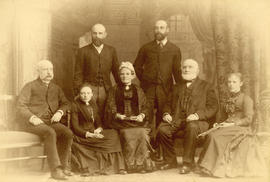 [Studio group portrait of the Joseph Price family]