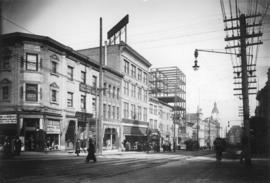 [Granville Street at Dunsmuir Street, looking north]