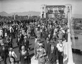 Opening of the Burrard Bridge