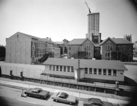 [Rear view of Sir William Dawson School from Hornby Street]