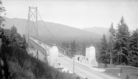 [The south end of the Lions Gate Bridge]
