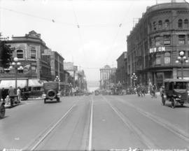 [View of Granville Street, looking north from Georgia Street]