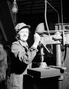 Burrard Shipyard - Mrs. Henriette Hall - Engine Fitting Department