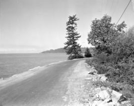 [Marine Drive near West Bay showing Point Atkinson in the distance]