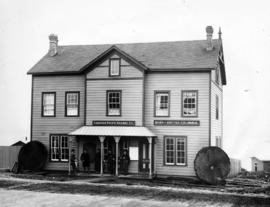 [The first C.P.R. depot and offices on Cordova Street near Richards Street]