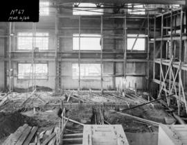 Powerhouse construction - view of floor construction