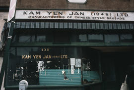 Kam Yen Jan sausage makers storefront at 223 Keefer Street