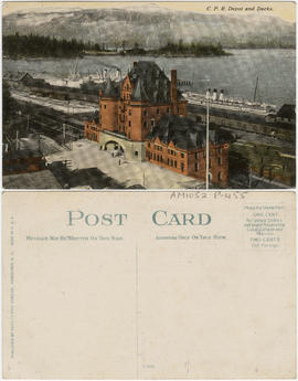 C.P.R. depot and docks [Vancouver, B.C.]
