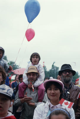 Audience members during the Centennial Commission's Canada Day celebrations