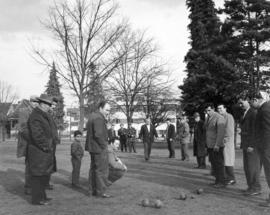 "Italian game ""Bocce"" takes place on Victoria Park"