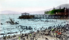 Bathing Beach, English Bay, Vancouver, B.C.