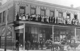 [Exterior of John Kurtz's Cigar Manufactory - 79 Government Street]