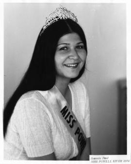 Jeannie Paul, Miss Powell River 1974 : [portrait]