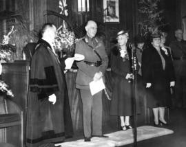 [His Worship J.W. Cornett addresses His Excellency the Earl of Athlone and H.R.H. Princess Alice ...