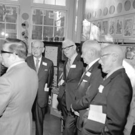[Jack Purdy, Fred Lord, Lloyd Purdy and Van Shindler at a Sir William Dawson School reunion]