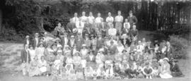 [Unidentified picnic group photograph]