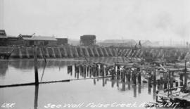 [Construction of] Seawall, False Creek