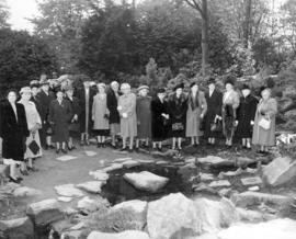 [An unveiling ceremony at the Garden of Remembrance]