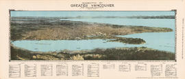 Perspective of Greater Vancouver from Grouse Mountain (elevation 4000 ft.)