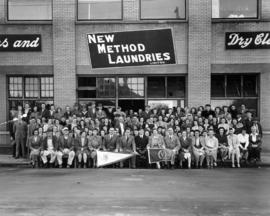Group portrait of New Method Laundries Limited staff