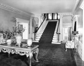 "A hall and staircase at ""Hycroft"""