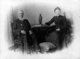 Grandfather and Grandmother Totten after their golden wedding