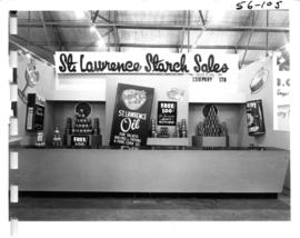 St. Lawrence Starch Sales Co. display of food products