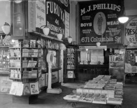 B.C. Electric Railway Company News Stands - New Westminster, Marpole, Granville Street Bridge