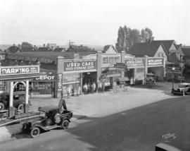 [Blackburn's Service Station and used cars, 822 Seymour Street]