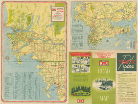 Metropolitan areas of Vancouver and Victoria, B.C. road map : maps of Vancouver and Victoria vici...