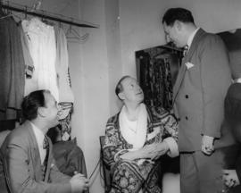 Unidentified man, Jack Benny and Ivan Ackery  [in dressing room]