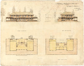 Plans of proposed pavilion for Stanley Park