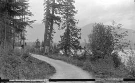 [Woman on path at Brockton Point] Stanley Park, Vancouver, B.C.