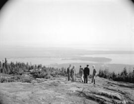 A.R.P. General Pearkes, W.C. Mainwaring and Captain Bates on Grouse Mountain