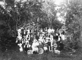[Prominent citizens of Vancouver at a picnic at Seymour Creek]