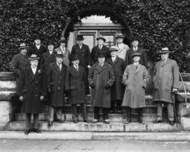 Vancouver Club members [in front of building at 915 West Hastings]