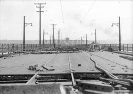 [Portion of Connaught Bridge (Cambie Street Bridge), damaged by fire]