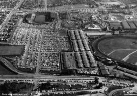 Aerial view of east half P.N.E. grounds looking south