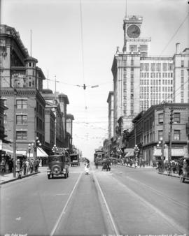 [View of Granville Street, looking north from Robson Street]