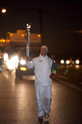 Day 003, torchbearer no. 007, Christopher Hakes - Nanaimo