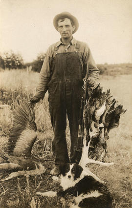 [Hunter with game birds]