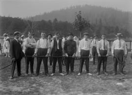 [B.C. Sugar Refinery picnic, men's tug of war]