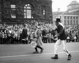 Clowns in 1948 P.N.E. Opening Day Parade