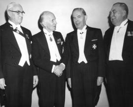 [Lieutenant Governors Frank Bastedo, John J. Bowlen and Frank Ross and His Excellency Vincent Mas...