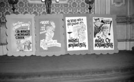 "[Display cards for the ""Miracle of Morgan's Creek"" in the lobby of the Orpheum"""