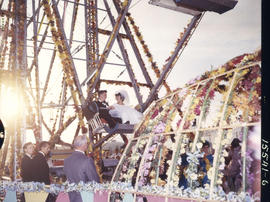 Bill Baddeley and June Terry married on P.N.E. Happyland Ferris wheel