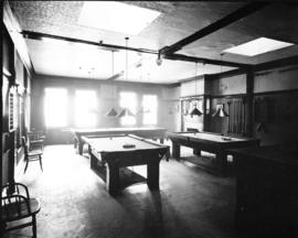 Elks Club rooms [with billiard tables]