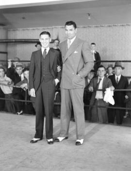 Jack Dempsey [and an unidentified man]