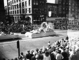 City of Bellingham float in 1952 P.N.E. Opening Day Parade