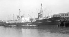 "M.S. Kristin Bakke [at dock, at Pier ""B""]"